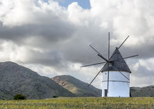 Renovated mill. It is a renovated mill situated in the natural park of Cabo de Gata in Almeria, Spain stock photos
