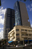 Renovated and modern Buildings in Rotshild Boulevard Of Tel Aviv. Israel Royalty Free Stock Photos