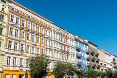 Renovated old apartment buildings on Berlin Royalty Free Stock Photography