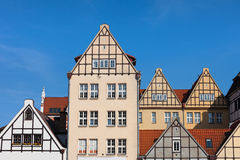 Renovated Old Granaeries in Gdansk Royalty Free Stock Photos