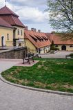 Renovated old manor Shlokenbek in Latvia.The estate is over 600 years old.May 5, 2019, Latvia.  stock photo