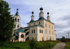 Renovated orthodox Cathedral in Soligalich Royalty Free Stock Photo