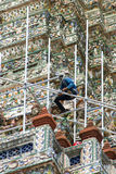 Renovated the pagoda Royalty Free Stock Photo