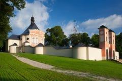Place of pilgrimage in Jaromerice u Jevicka. Renovated pilgrimage church in Jaromerice u Jevicka Royalty Free Stock Photography