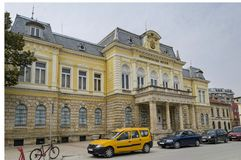 Renovated Regional Historical Museum in Ruse town Stock Photography