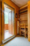 Renovated Sliding Door To The Balcony. Comfort And Ergonomic Glass System. Laminated Profile. Royalty Free Stock Photo