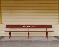 The renovated station of Gundagai Stock Images