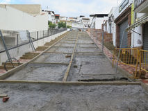 Renovated Street waiting for Concrete Royalty Free Stock Photo