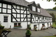 Renovated timbered farmhouse Stock Images