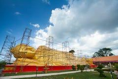 Renovating buddha image Royalty Free Stock Image
