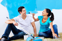 Renovating couple portrait Stock Photography