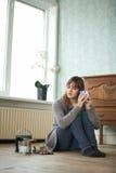 Renovating Woman Royalty Free Stock Photography