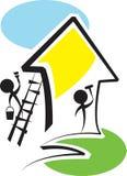 Renovation. Brush stroke illustrated cartoon of renovation concept Royalty Free Stock Photo