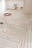 Renovation of an appartment with new underfloor heating Stock Photo