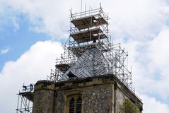 Renovation of Arundel Castle Church in England Stock Photo
