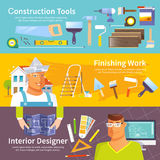 Renovation Banner Set Royalty Free Stock Images