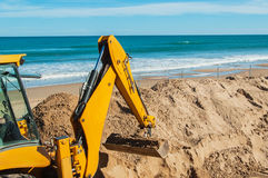 Renovation at the beach, Spain Stock Photo