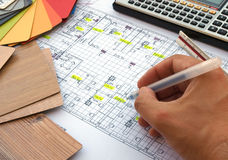 Renovation blueprint Royalty Free Stock Images