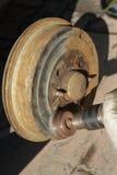 Renovation of brake drum Royalty Free Stock Photo