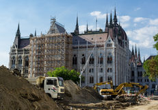 Renovation of the building Stock Photography