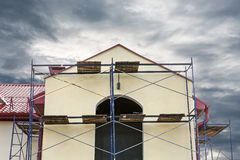 Renovation of building facade Royalty Free Stock Image