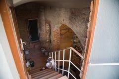 Renovation of a cellar vault, old brick, brick building. Builiding , nobody Stock Photo