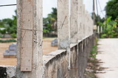 Renovation concrete pole fence Stock Photo