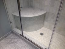 Renovation. Construction bathroom work in progress Royalty Free Stock Image