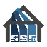 Renovation and construction of houses Stock Images