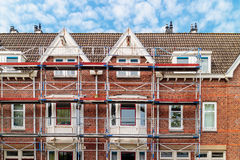 Renovation of Dutch apartment houses in Amsterdam Royalty Free Stock Images