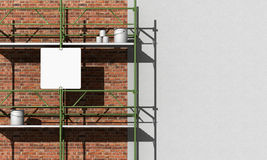 Renovation of a facade Royalty Free Stock Photos