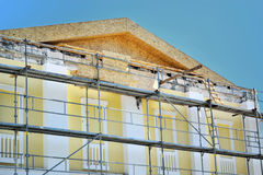 Renovation of the facade of the building Royalty Free Stock Photos