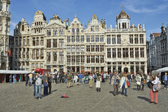 Renovation of the facades of the Grand Place, Brussels Royalty Free Stock Images