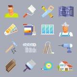 Renovation Flat Icons Set Royalty Free Stock Photos