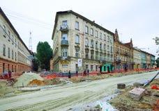 Renovation of a Gorodotsjka Stree Royalty Free Stock Images