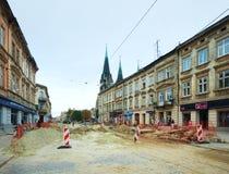 Renovation of a Gorodotsjka Stree Stock Photography