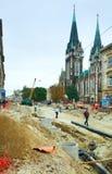 Renovation of a Gorodotsjka Stree Royalty Free Stock Photo