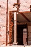 Renovation of a historic brick building royalty free stock photography