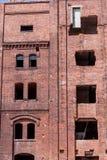 Renovation of a historic brick building royalty free stock image