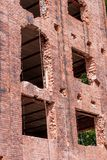 Renovation of a historic brick building stock images