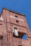 Renovation of a historic brick building royalty free stock images