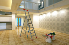 Renovation of the house. Royalty Free Stock Image