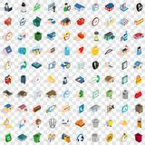 100 renovation icons set, isometric 3d style Royalty Free Stock Photography