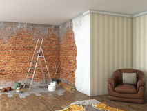 Renovation interior big room; Royalty Free Stock Photography