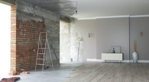 Renovation interior. 3D render