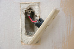 Renovation - Light Switch Royalty Free Stock Photo