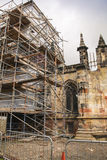 Renovation on a medieval chapel Stock Photography
