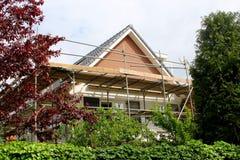 Renovation modern family home outside, Netherlands Royalty Free Stock Photography