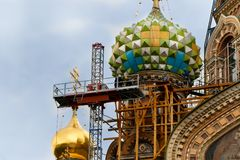 Renovation Of The Church Of The Savior On Spilled Blood  Royalty Free Stock Images