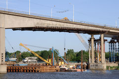 Renovation of old bridge. In Rostov on Don Stock Photos